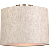 MARA 250MM DIY LINEN Lighting Direct.  There are other options of the same light that hang down, but this is ideal for lower ceilings.  Need to find out if the top of it is open. Other colours also, but I like this, nice and neutral