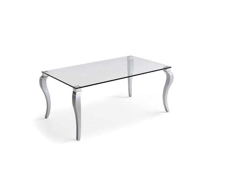 mesa de cristal patas  francesa 160x100x75