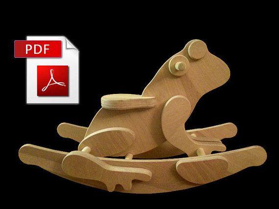 Rocking Frog DIY Woodworking Plans Digital Download by rockingfrog, $4.95