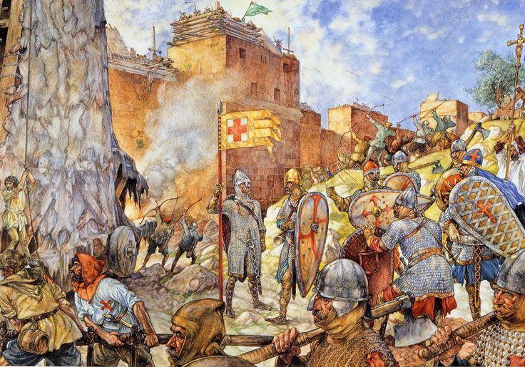 #Kruisvaarders voor #Jeruzalem, 1099 | #Schoolplaat #Isings