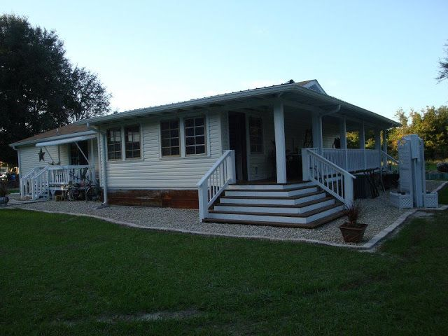 1000 images about remodel on pinterest front porches for Mobile home with wrap around porch
