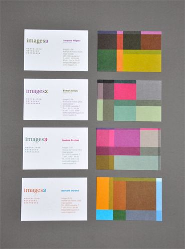 Images3, corporate identity by Nicolas Zentner, via Behance ~ like the card info side. Not the plaid side.