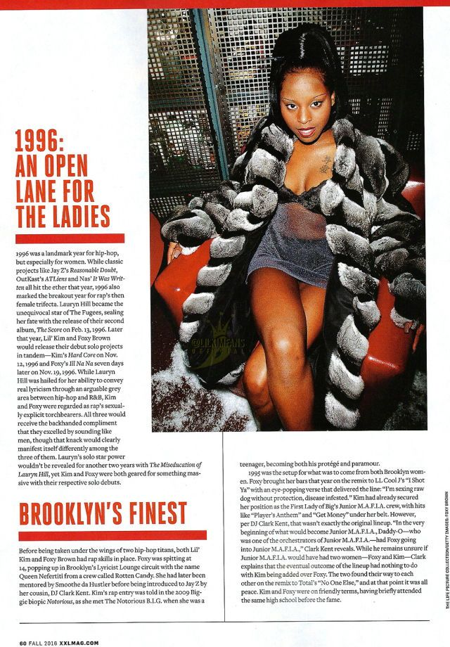 Lil' Kim & Foxy Brown: The Thelma & Louise Tale That Never Was' from the Fall 2016 issue of XXL magazine.