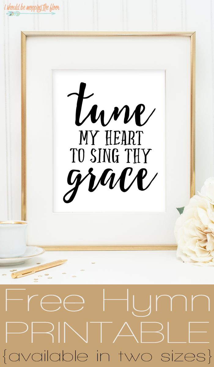 Free Scripture Printables | Tune My Heart... | Available in both 8x10 and 11x14 for instant download