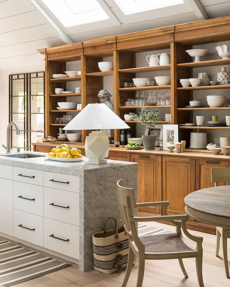 An Ethereal Farmhouse in Napa Valley   Interior Design by Benjamin Dhong of Benjamin Dhong Interiors   Photography by Lisa Romerein   Modern Sanctuary   Kitchen   White Kitchen   Kitchen Storage   Details and Accessories