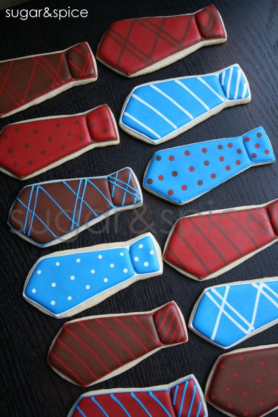 Neckties  one dozen rolled sugar cookies by shopforsugarandspice, $39.00