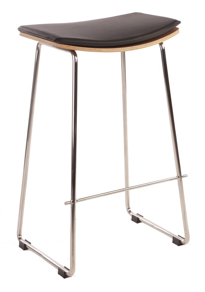 INTERIOR -Original Yvonne Potter Y Design Leather Bar Stool 66cm by Yvonne Potter - Matt Blatt
