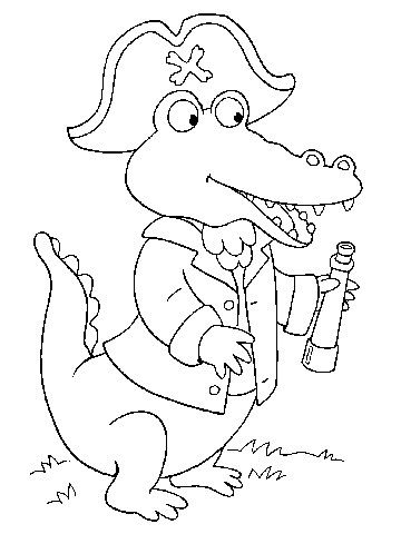 Amazing Gator Coloring Pages 87 Free Coloring Pages Pirates