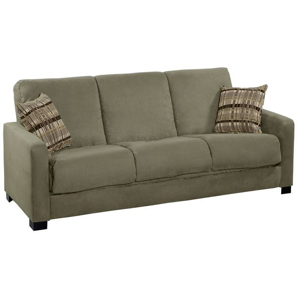 portfolio trace convert a couch sage grey microfiber futon sofa sleeper   overstock    shopping   great deals on portfolio futons 29 best futon fun images on pinterest   recliners apartments and      rh   pinterest