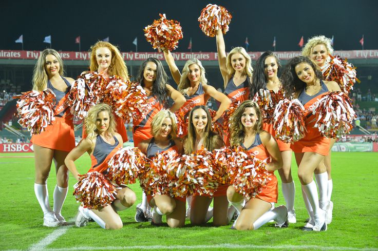 The Aggreko Dynamos entertaining the crowds at the 2014 Emirates Airline Dubai Rugby Sevens #Everybodyplay #Dubai7s #Cheerleaders