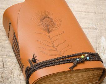 Тан Браун кожаный журнал, журнал Handbound, кожаный дневник, тетради