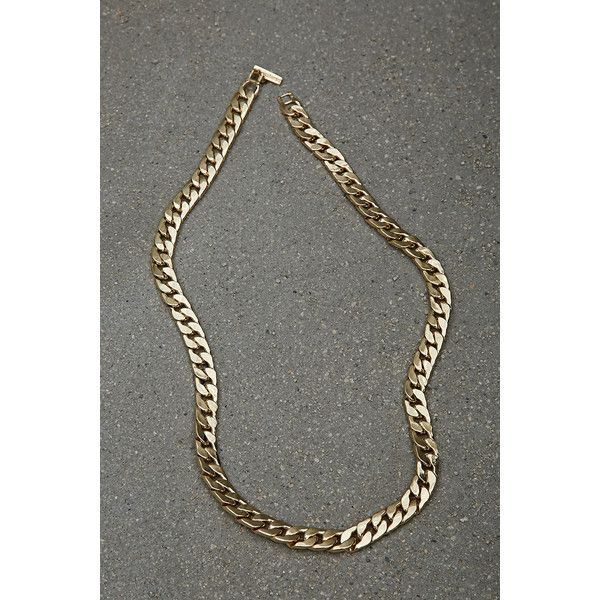 Forever21 Akademiks Curb Chain ($30) ❤ liked on Polyvore featuring men's fashion, men's jewelry, men's necklaces, gold, mens curb chain necklace, mens gold necklace, mens chain necklace, mens gold curb chain necklace and mens gold chain necklace