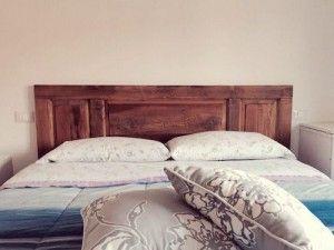 testiera letto, recupero vecchi arredi, legno grezzo