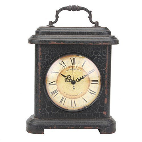 Stonebriar Rustic Industrial Metal and Wood Table Top Clock with Handle, Vintage Antique Home Decor Accents for the Mantel, Shelf, or Any Table Top, Battery Operated  #Accents #Antique #Battery #Clock #Décor #Handle #Home #Industrial #Mantel #Metal #Operated #Rustic #RusticMantelClock #Shelf #Stonebriar #Table #Vintage #Wood The Rustic Clock #antiqueclocks