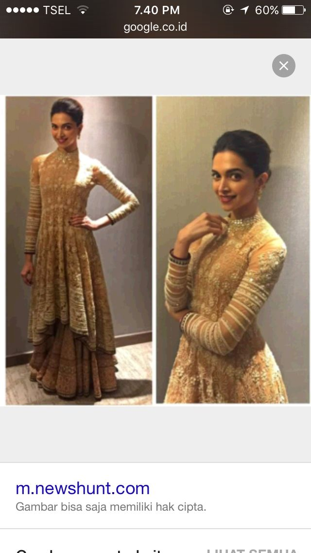 The stunning dress from deepika padukone