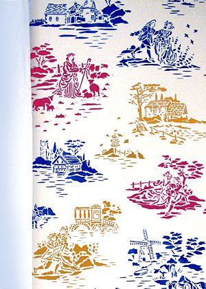 Toile de Jouy Stencil. Countryside Toile. Toile Stencils