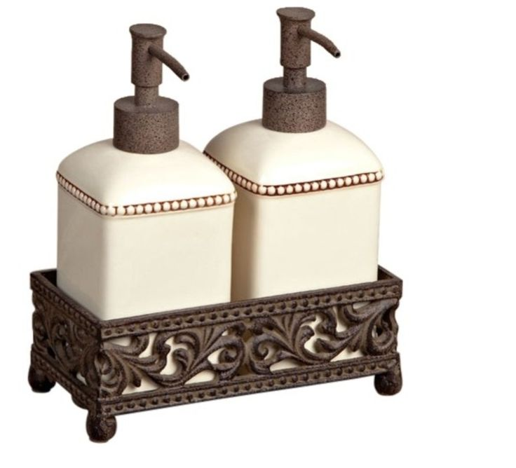 52$ in Houzz      https://www.houzz.com/photos/17212154/Barcelona-Set-of-Two-Soap-Lotion-Dispensers-mediterranean-bathroom-accessories