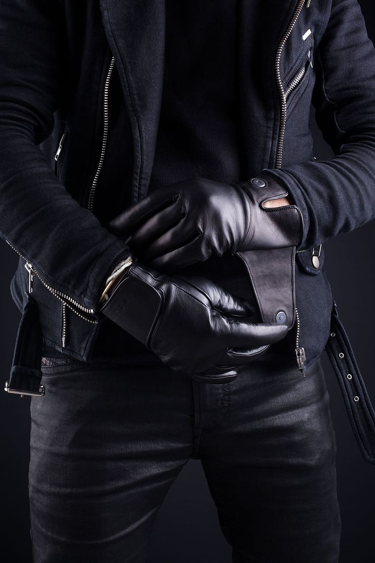 Black leather gloves with red buttons - Fancy Leather Touchscreen Gloves Https Fancy Com Things 1028601154449179889