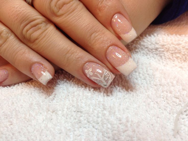 clear glitter gel nails: Glitter Gel Nails, Nail Art, Clear Glitter
