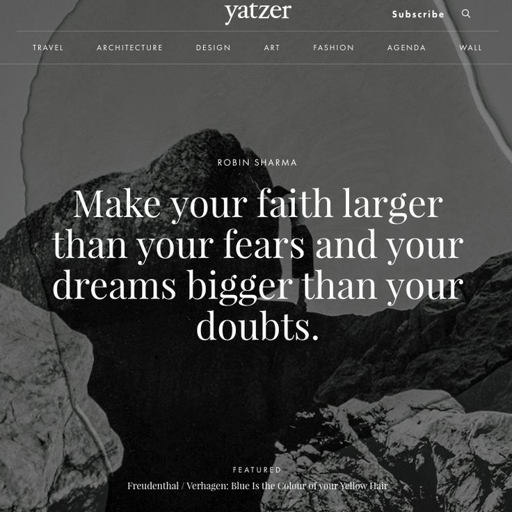 """Inspirational Quotes Motivation: #YatzerQuoteOfTheDay """"Make Your Faith Larger Than Your"""