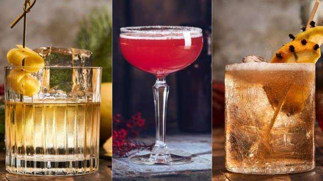 Juldrinkar är ett givet inslag under vinters högtid. Här är recept på enkla drinkar med bas av bland annat konjak, whiskey och gin.