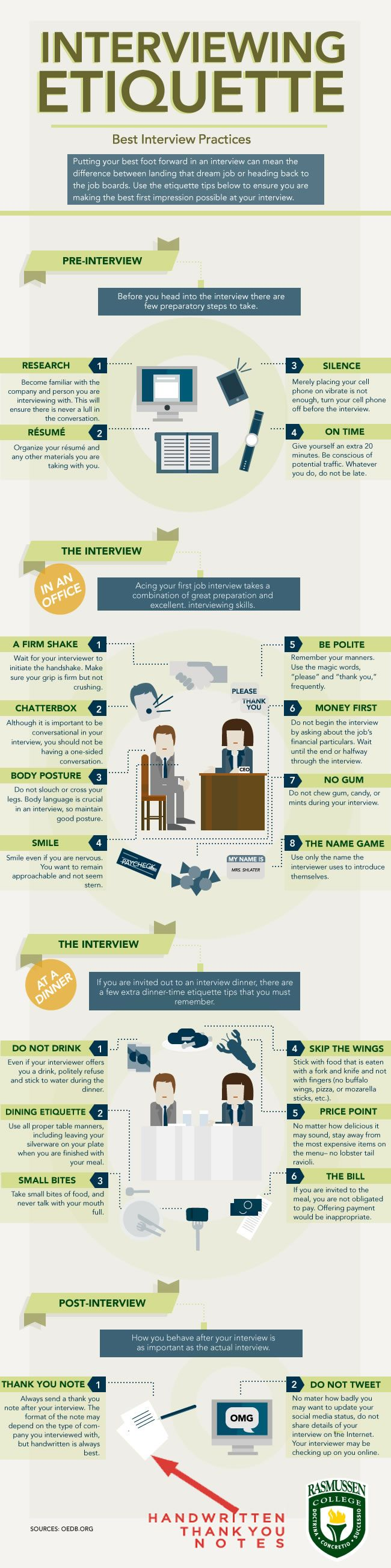 best images about career resume tips interview here s an infographic for interviewing etiquette