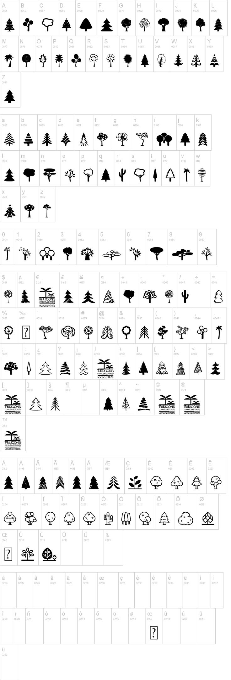 Tree Icons Font Tree icon, Icon font, Black