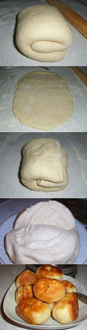 Тесто на кефире для пирожков, без дрожжей. Рецепт в кулинарную копилку каждой хозяйке | Рецепты моей мамы