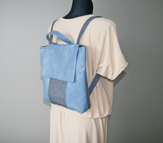 Backpacks – Blue backpack, womens backpacks – a unique product by Bagsandmood on DaWanda