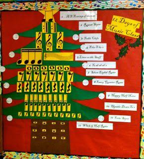 12 Days of Music Class Bulletin Board