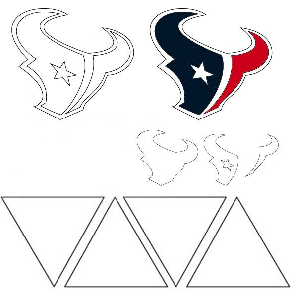 houston texans logo template 180 best templates images on pinterest plants vs zombies