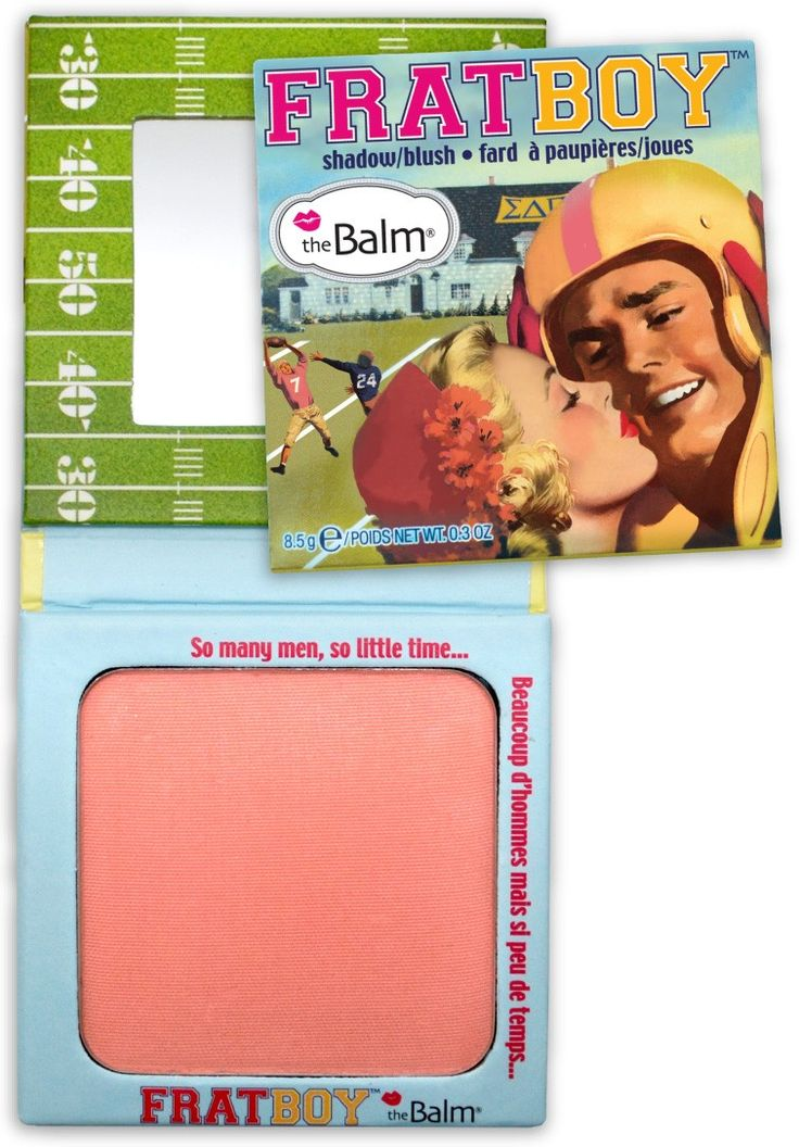 "The Balm: FratBoy / ""FratBoy's Talc-free, finely-graded powder formula adds just the right flush so you look pledge perfect around the clock."""
