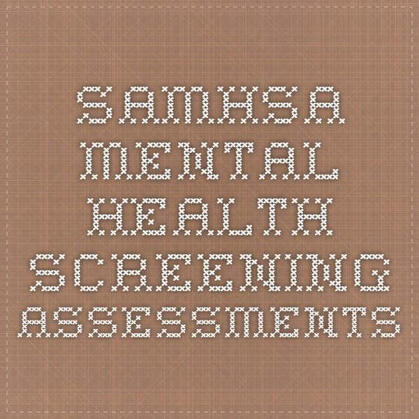 assessment tools in mental health