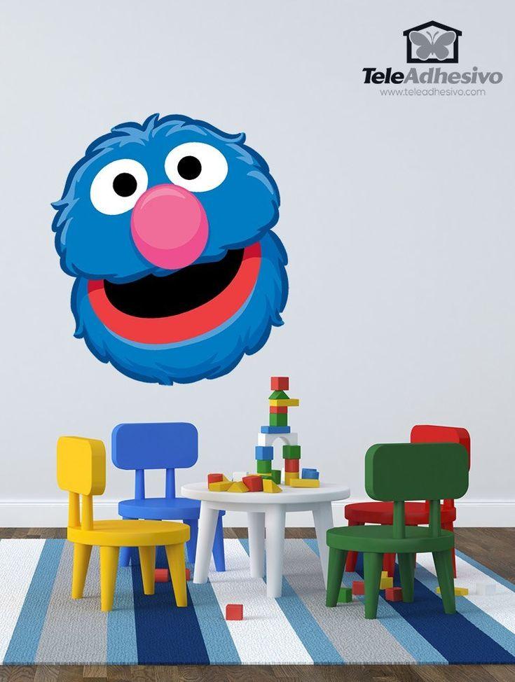 Vinilos Infantiles: Coco cara #vinilodecorativo #decoracion #teleadhesivo #BarrioSesamo #SesameStreet #Sesame #Sesamo #Coco