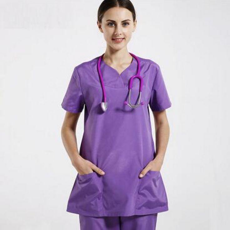 Classical Doctor Nurse scrub sets Medium-long Surgical Medical Clothing Short-sleeve Medical Uniform  Price: 73.48 & FREE Shipping  #hashtag3