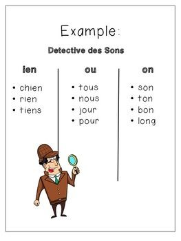 Sound Detectives *In French* -- Search for words with the sound in books!