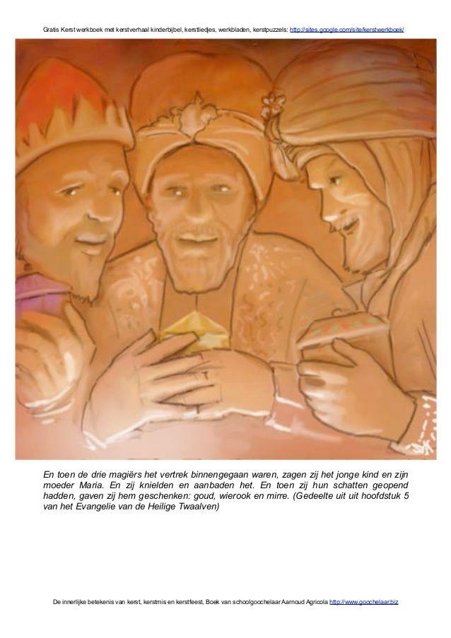 Kerstverhaal uit kinderbijbel in gratis kerst werkboek over diepere b…