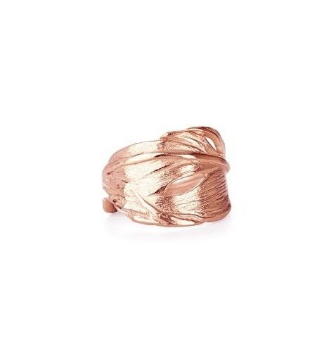 I Can Fly Swan Feather Ring in Rose Gold