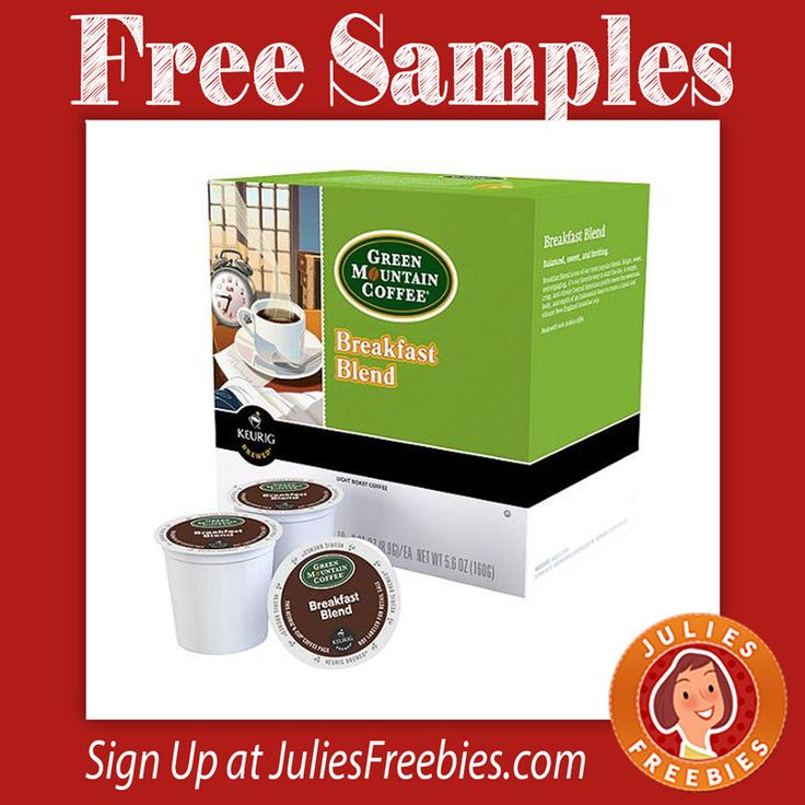 Facebook Twitter PinterestHere is an offer where you can get FREE Green Mountain Coffee K Cups. Click on the TRY A SAMPLE to get this one. Their site is loading slow at the moment so be patient. CLAIM HERE