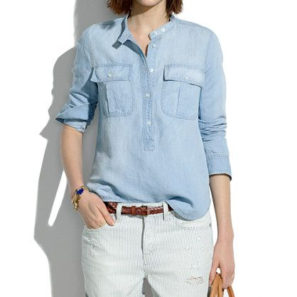 pale chambray popover