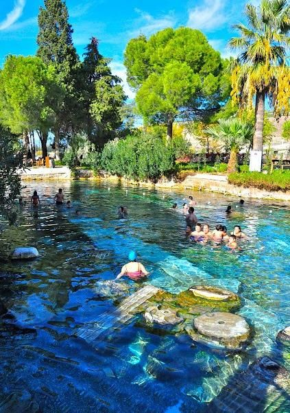 "Cleopatra""s pool, turkey  http://exploretraveler.com/ http://exploretraveler.net"