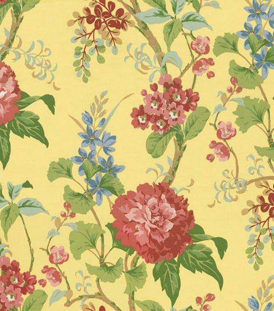 Home Decor Fabric Or By Floral Crewel Home Decor Fabric Closeup ...