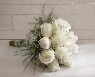 ramos de novia con rosas sencillo