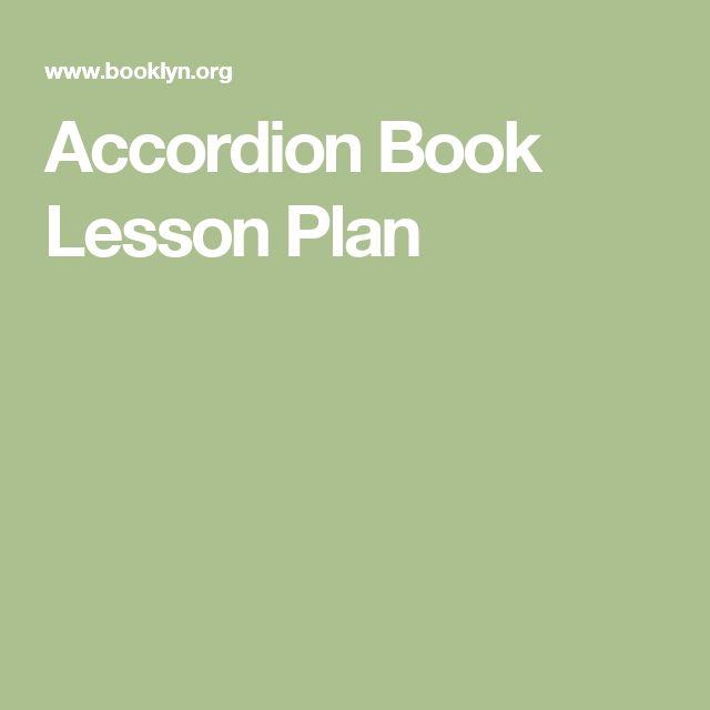 Accordion Book Lesson Plan