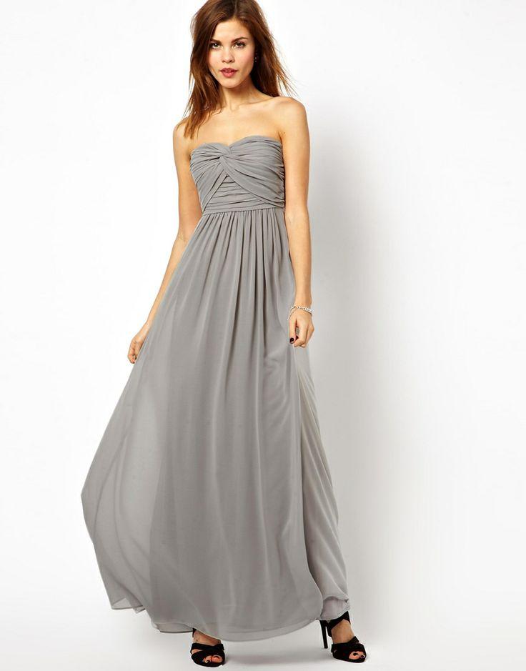 Grey maxi dress bridesmaid