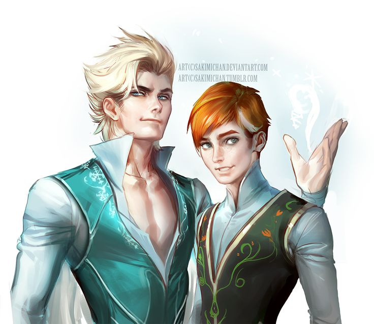 this artist he's pretty cool. He switches the gender of Disney princesses. But really it's interesting.