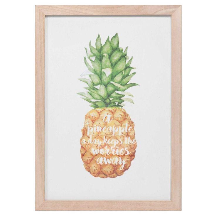 Plus de 1000 id es propos de pineapple ananas sur - Tableaux maison du monde ...