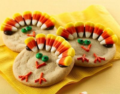 Turkey cookies and more thanksgiving treats