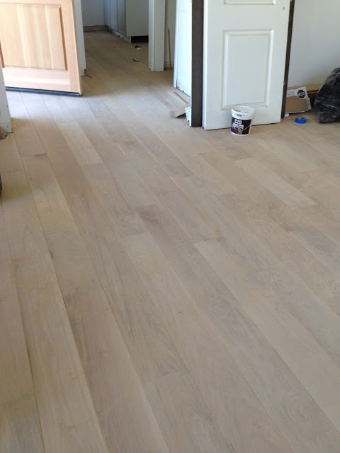 "Unfinished white oak wood floors! Gorgeous. 7"" wide planks"