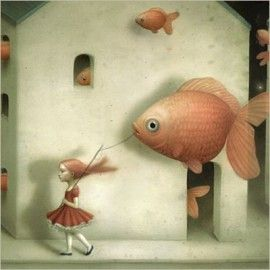 La Marelle `Kaart Nicoletta Ceccoli Evidently Goldfish`